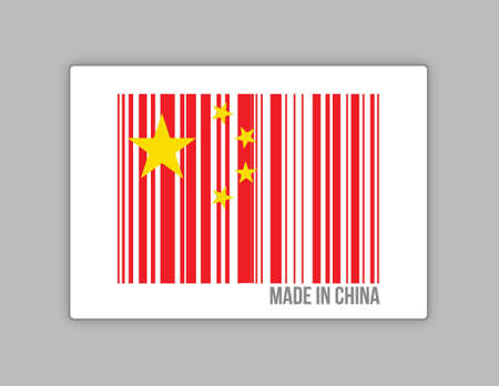 made in china barcode illustration design graphic Stock Vector - 17058188