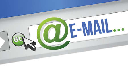 Email Blue Concept illustration design browser graphic Çizim