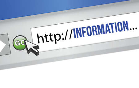 blue information concept illustration design browser graphic