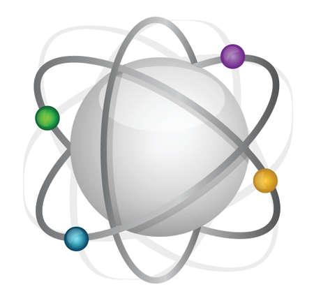 atom illustration design over a white background Stock Vector - 17058186