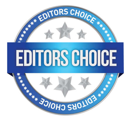 permitted: editors choice concept illustration design over a white background