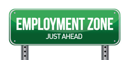 Employment Zone Green Road Sign In illustration design Stock Vector - 17057996