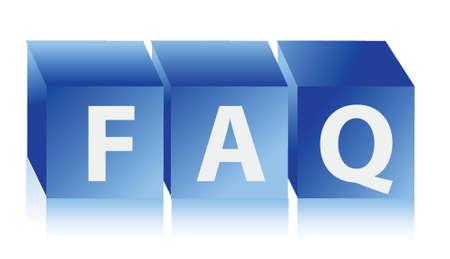 FAQ Concept Illustration design over a white background Stock Vector - 17058009