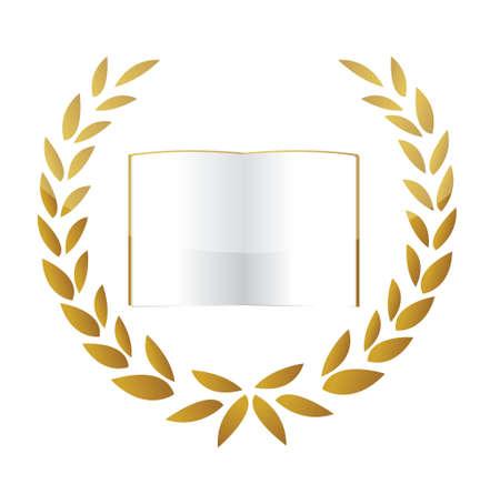 Premium Gold Book illustration design over a white background Stock Vector - 17058182
