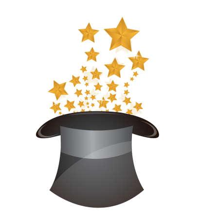 magic hat illustration design over a white background Stock Vector - 17058179
