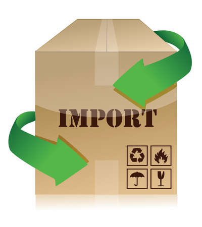 import box illustration over a white background Vector