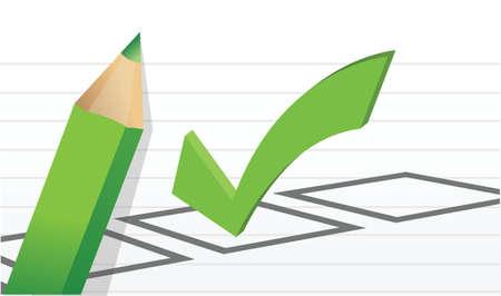 tickbox: Ticks yes and no illustration design over white
