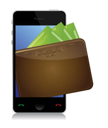 customer service phone: Phone and money illustration design over a white background