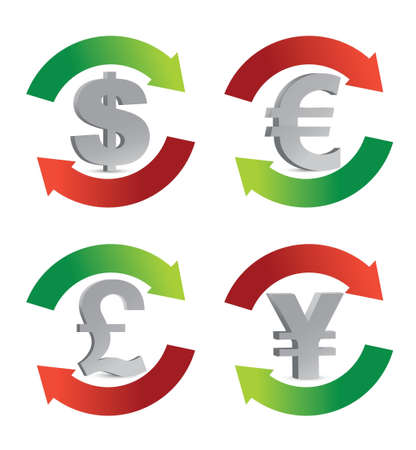 currency symbol illustration design over a white background Vector