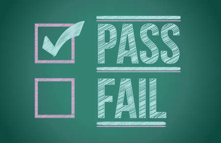 accept: check mark for pass selection illustration design