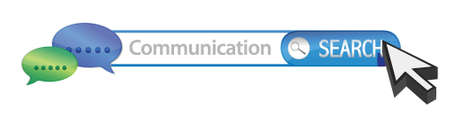 Search for communication illustration design over a white background Vector
