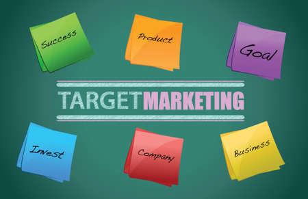 targeted: target market board illustration design on a blackboard Illustration