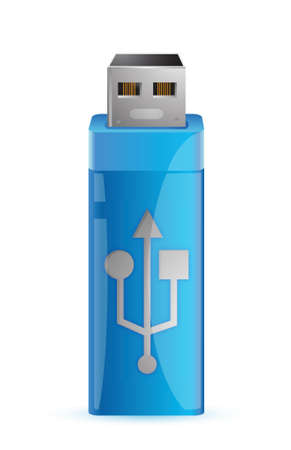 flash drive: universal flash drive usb illustration design over a white background