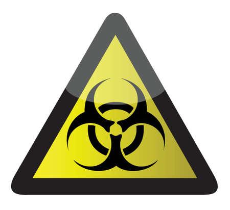 riesgo biologico: señal de peligro biológico diseño ilustración sobre un fondo blanco