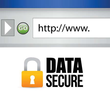 secured: image of a data secured message. illustration design
