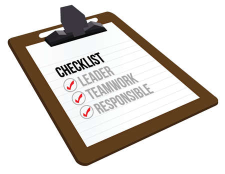 business checklist clipboard illustration design over white Vector