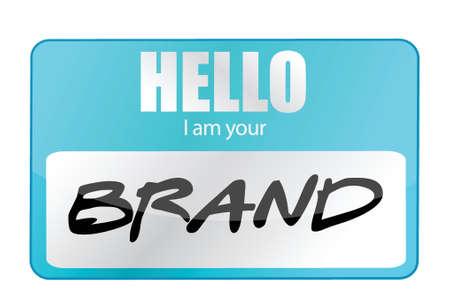 am: Hello I am your Brand illustration design over white