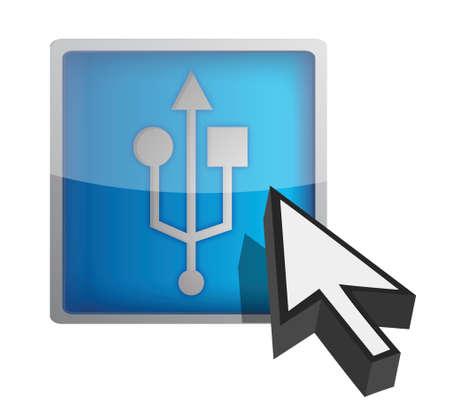 USB sign illustration design on a white background Stock Vector - 17099310