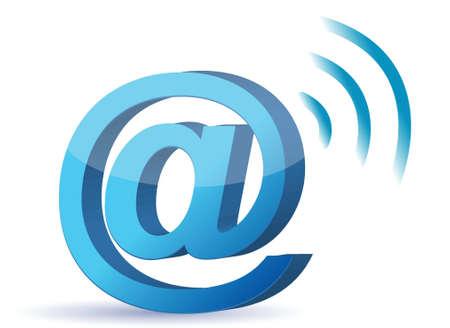 att sign wifi illustration design over a white background Stock Vector - 17124373