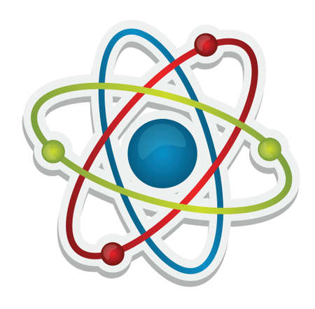abstract science icon of atom illustration design over white Stock Vector - 17124382