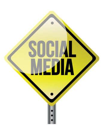 trip hazard: Social media sign illustration design over a white background Illustration