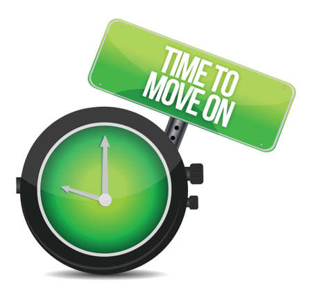 TIme to Move On concept illustration design over white