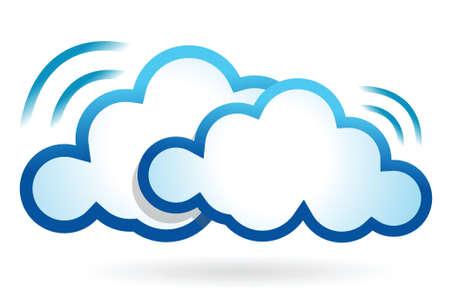 cloud computing wifi concept illustration design over white Stock Vector - 17148143