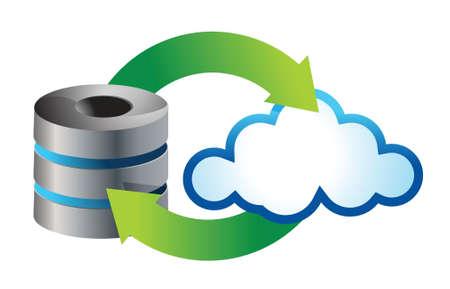 Cloud computing icon illustration design over white Stock Vector - 17153541