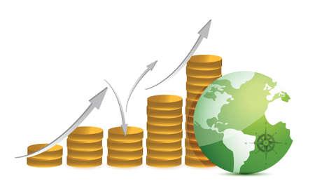 経済的な成功のコンセプト イラスト デザイン白  イラスト・ベクター素材