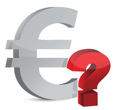 Currency question mark illustration design over white Stock Vector - 17153691