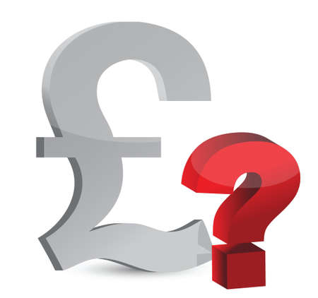 Currency question mark illustration design over white Vector