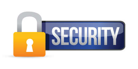 Security panel with padlock and text illustration design Stock Vector - 17153528
