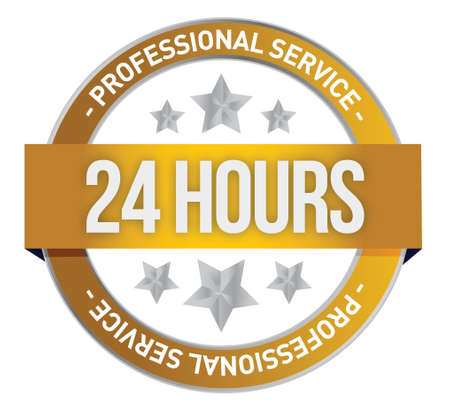 Twenty four hour support illustration design over a white background Stock Vector - 17153828