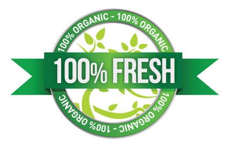 Label of Fresh concept illustration design over white