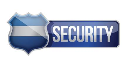 online privacy: SECURE icon for web illustration design over white