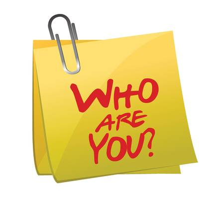 Who Are You post it illustratie ontwerp op wit