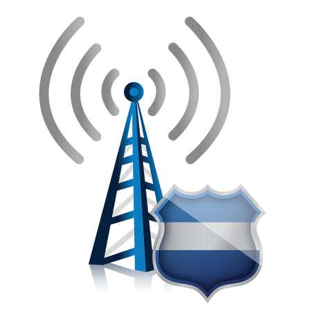 point chaud: hotspot wifi prot�g� par la conception du blindage illustration de s�curit�