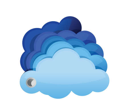 glossy clouds illustration design over white