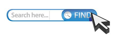 internet search bar illustration design over white Stock Vector - 17182525