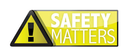 safety matters illustration designs over a white background Vector