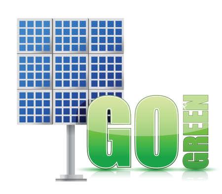 Renewable energy image solar panels- illustration design over white Stock Vector - 17183108