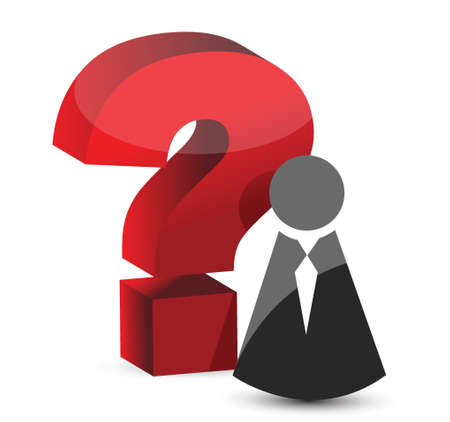 employment issues: question mark icon illustration design over white