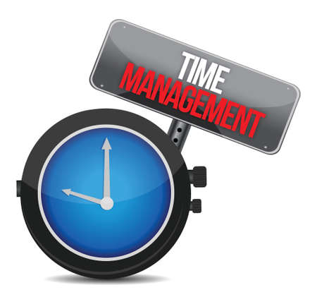 time to management. Concept clock illustration design over white Stock Vector - 17183219