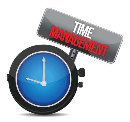 plotting: time to management. Concept clock illustration design over white