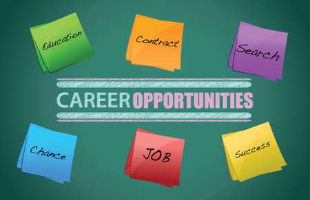 new direction: board on the background, Career opportunities illustration graphic design Illustration