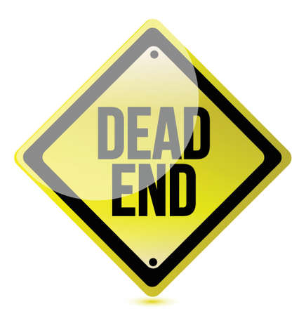 halted: warning sign with the words Dead End illustration graphic design
