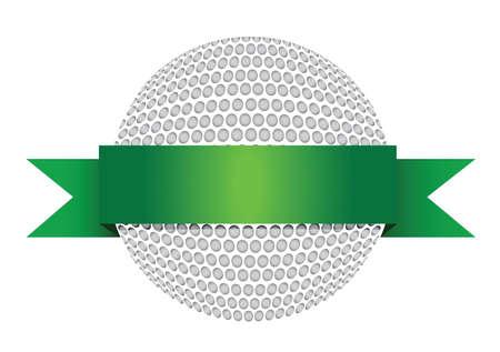 score under: Golf Award with blank gold label illustration design over white