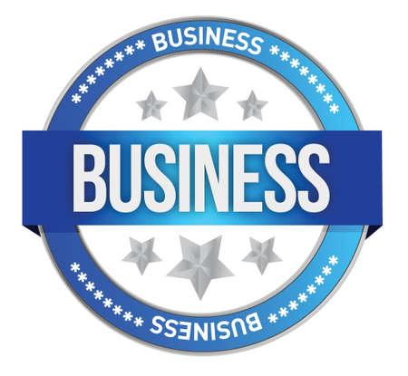 business seal - illustration design over white Stock Vector - 17250311