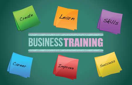 business training colorful diagram graphic illustration design