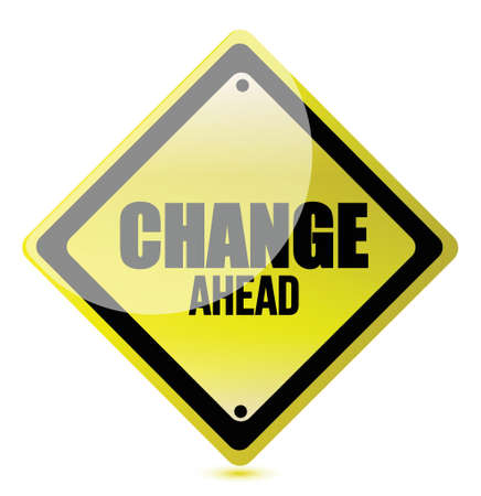 change ahead road sign illustration design over white Stock Vector - 17250219